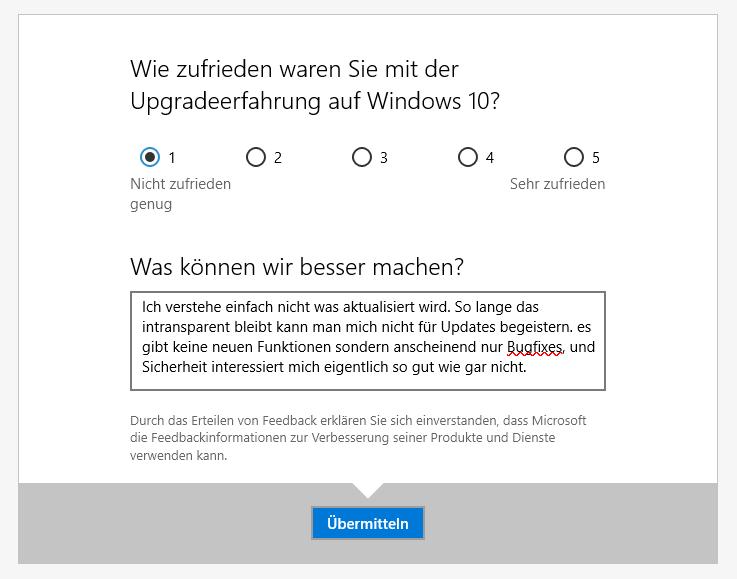 Wie Zufrieden Waren Sie Mit Der Updateerfahrung Von Windows 10?