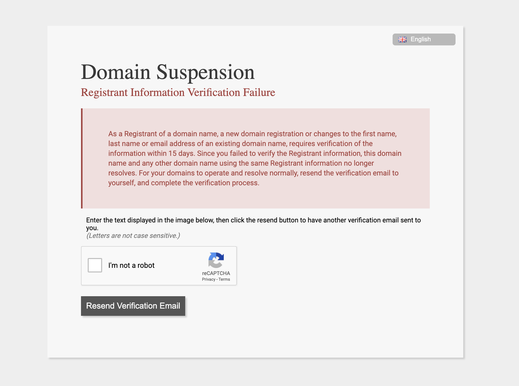 Dont Forget The Annoying ICANN Verification Process For Com Domains